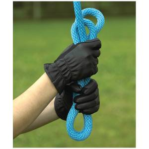 Perri's Kids Black Leather Gloves with  Spandex