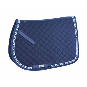 Perri's Pony Saddle Pad with Ribbon Trim - Hippos