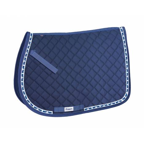 Perri's All Purpose Saddle Pad with Ribbon Trim - Hippos