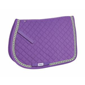 Perri's All Purpose Saddle Pad with Ribbon Trim - Turtles