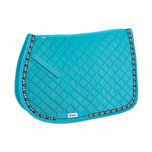 Perri's All Purpose Saddle Pad with Ribbon Trim - Owls