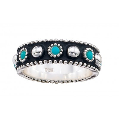 Montana Silversmiths Turquoise Cabochon Band Ring