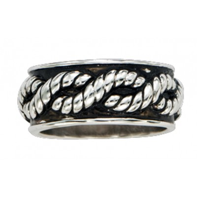 Montana Silversmiths Braided Rope Band Ring