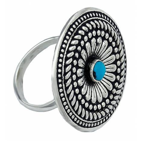 Montana Silversmiths Desert Mesa Flower Cocktail Ring