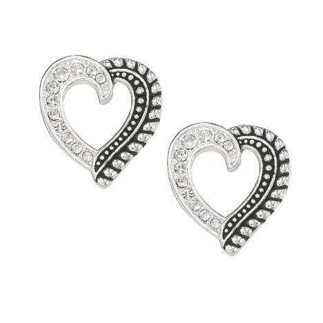 Montana Silversmiths Twisted Rope and Crystals Post Earrings