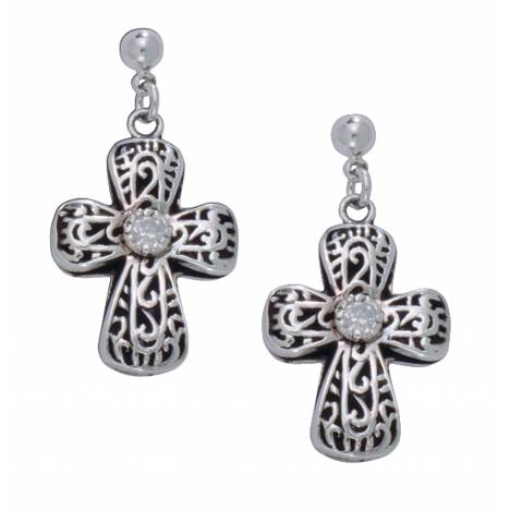 Montana Silversmiths Filigree Cross with ofPure Heart Earrings
