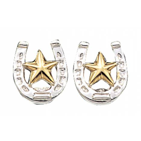 Montana Silversmiths Small Stars & Horseshoe Post Earrings