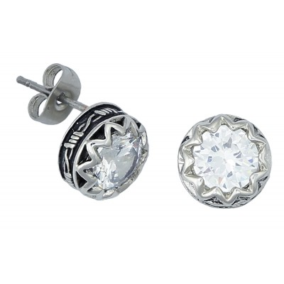 Montana Silversmiths Crystal Barbed Wire Stud Earrings
