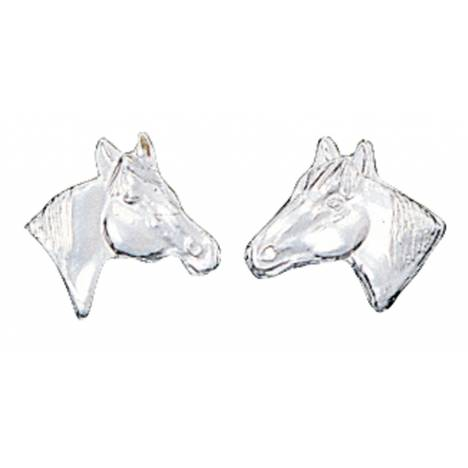 Montana Silversmiths Little Silver Horse Head Earrings