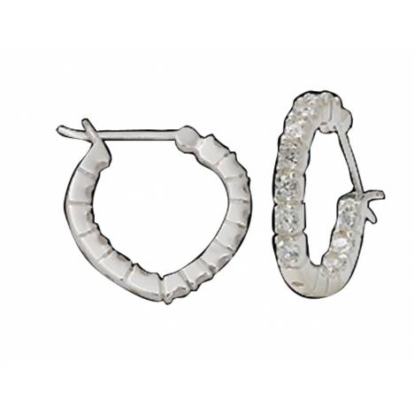 Montana Silversmiths Silver Heart Hoop with Crystal Earrings
