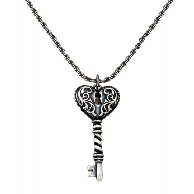 Montana Silversmiths Key To My Heart Antiqued Filigree Necklace