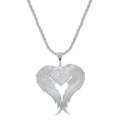 Montana Silversmiths Angel Heart Silver Necklace