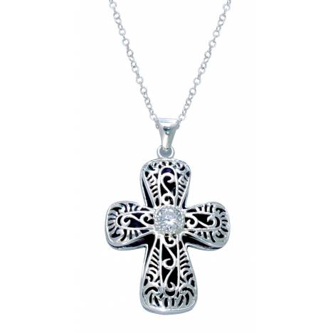 Montana Silversmiths Filigree Cross with ofPure Heart