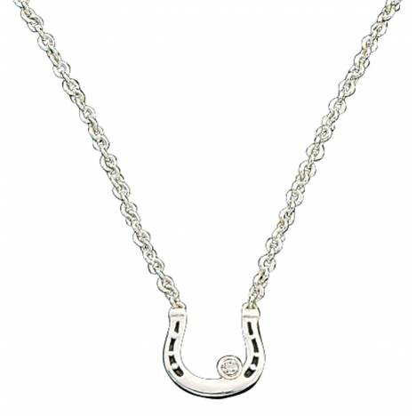 Montana Silversmiths Small Horseshoe with Crystal Necklace