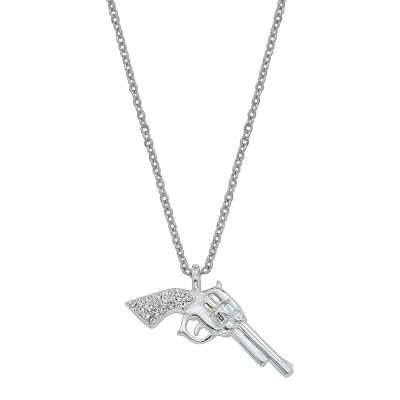 Montana Silversmiths Silver Pistols with  Rhinestone Handles Necklace