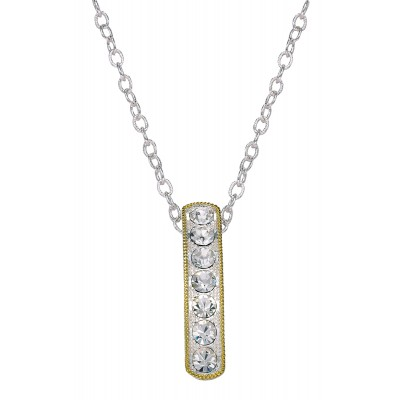 Montana Silversmiths Crystal Shine In Gold Hanging Bar Necklace
