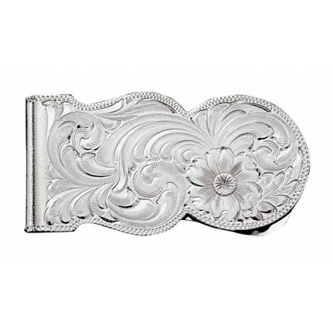 Montana Silversmiths Silver Engraved Scalloped Money Clip