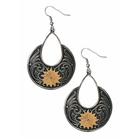 Montana Silversmiths Golden Bitterroot Garden Dangle Earrings