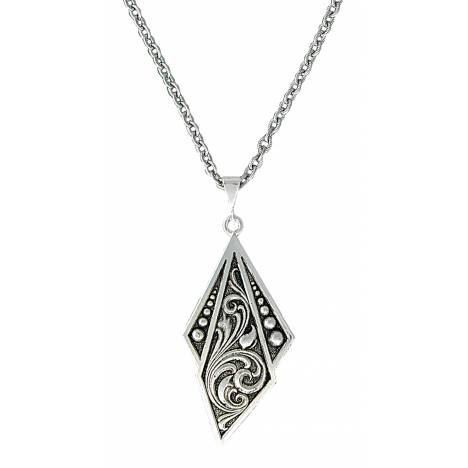 Montana Silversmiths Western Deco Silver Jewel Pendant Necklace