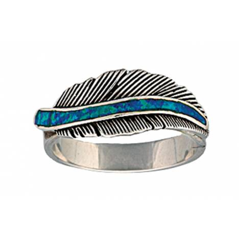 Montana Silversmiths The Storyteller Feather Ring