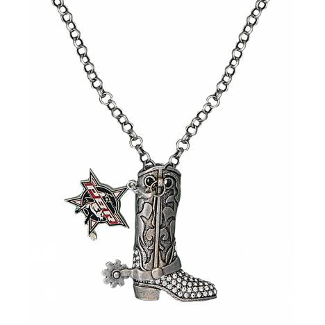 Montana Silversmiths PBR Boot Charm Necklace