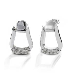 Kelly Herd Oxbow Stirrup Post Back Earrings - Sterling Silver