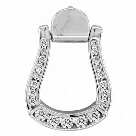 Kelly Herd Sparkling Oxbow Stirrup Pendant