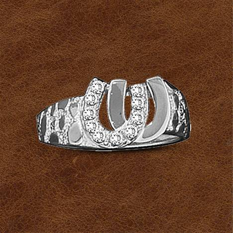 Kelly Herd .925 Sterling Silver Double Horseshoe Ring