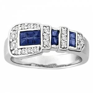 Kelly Herd Blue Buckle Ring