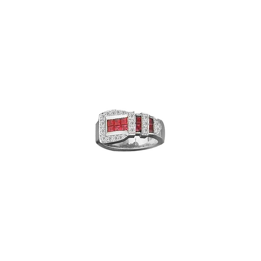 Kelly Herd Red Buckle Ring