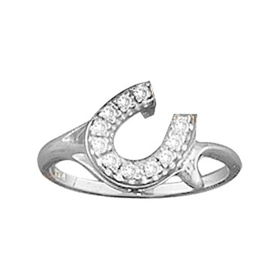 Kelly Herd Offset Horseshoe Ring