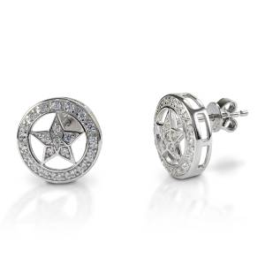 Kelly Herd Small Star Earrings - Sterling Silver