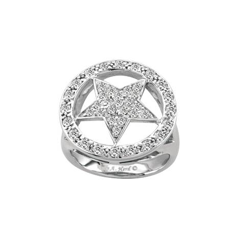 Kelly Herd Crystal Circle Star Ring