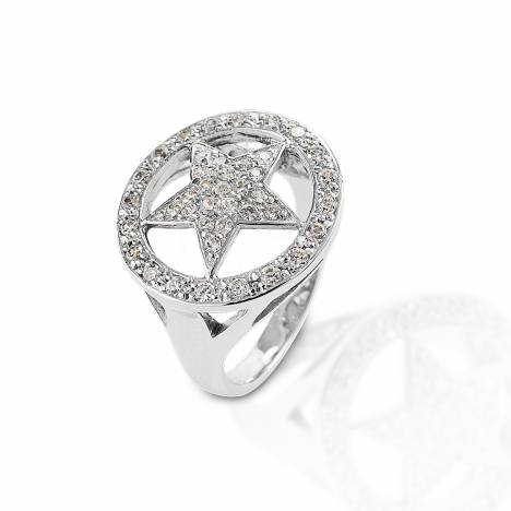 Kelly Herd Large Star Ring - Sterling Silver