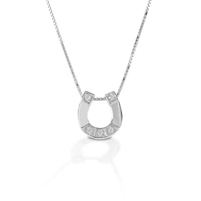 Kelly Herd Small Horseshoe Pendant - Sterling Silver