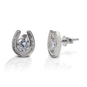 Kelly Herd Horseshoe Stud Earrings - Sterling Silver