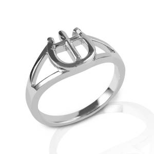 Kelly Herd Cross & Horseshoe Ring - Sterling Silver