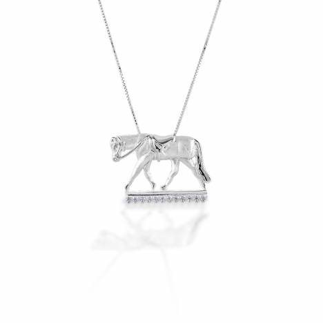 Kelly Herd English Horse Necklace - Sterling Silver