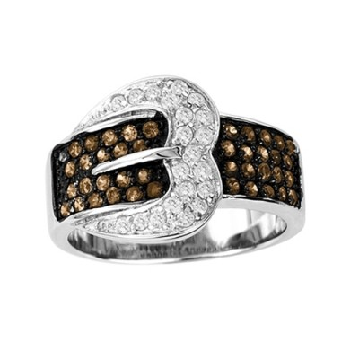 KH Large Choc Buckle Ring