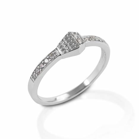 Kelly Herd Pave Horsehoe Nail Ring - Sterling Silver