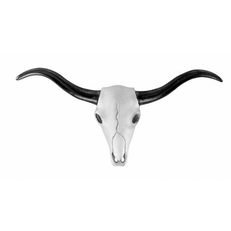 Kelly Herd Longhorn Skull Necklace - Sterling Silver
