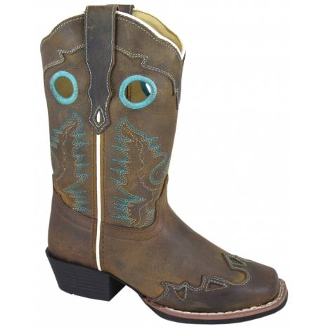 Smoky Mountain El Dorado Leather Western Boots - Kids, Brown