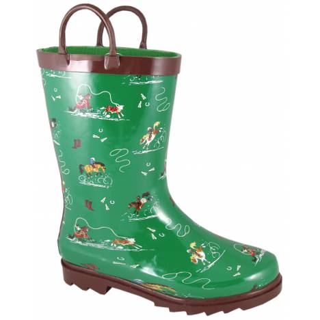 Smoky Mountain Rodeo Riders Waterproof Boots - Toddler, Green
