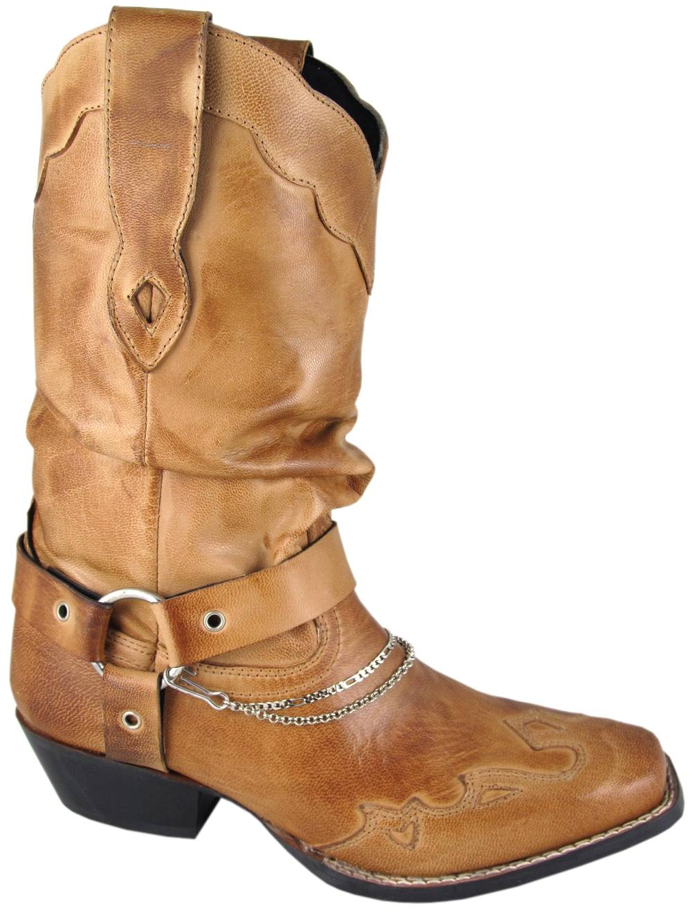 Smoky Mountain Avalon Slouch Western Boots - Ladies, Brown