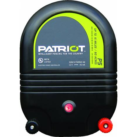 Patriot P5 Dual Purpose Fence Energizer - 12 V DC/110 V AC