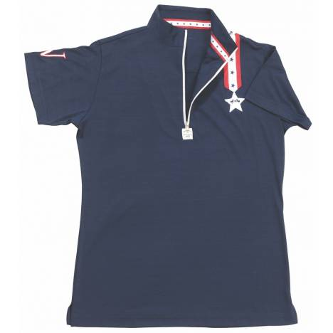 Equine Couture Stars & Stripes Short Sleeve Polo - Kids