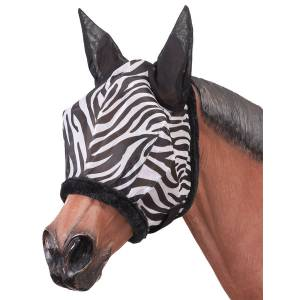 Tough-1 Zebra Mesh Fly Mask