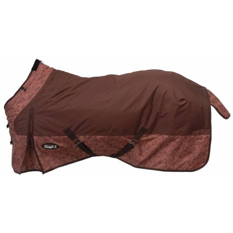 Tough-1 600D Ripstop Poly Waterproof Tooled Leather Print Turnout Sheet