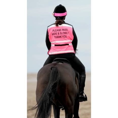 Equisafety Ladies' Reflective Air Waistcoat - Please Pass Wide & Slow