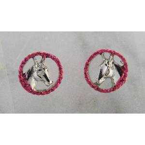 Finishing Touch Horse Head in Rope with  Glitter Earrings